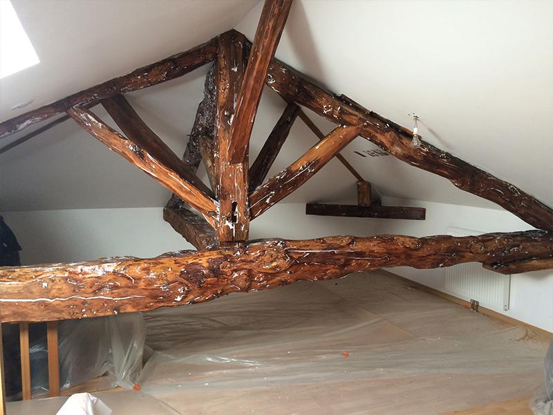 traitement de charpentes et structures en bois. Black Bedroom Furniture Sets. Home Design Ideas